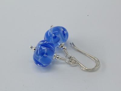 Bubble flower earrings - pale blue