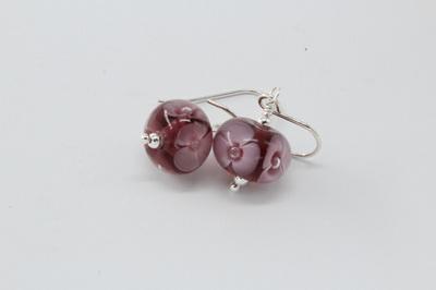 Bubble flower earrings - violet