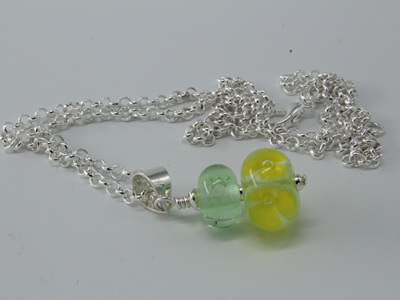 Bubble flower pendant - citrus
