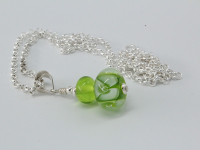 Bubble flower pendant - Green