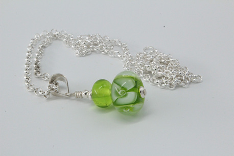 Bubble flower pendant - Green
