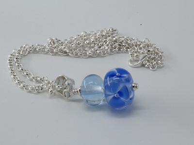 Bubble flower pendant - pale blue