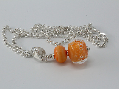 Bubble pendant - orange