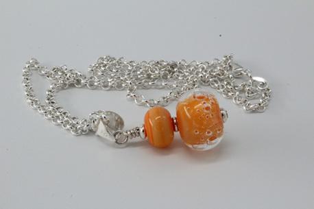 Bubble pendant - orange