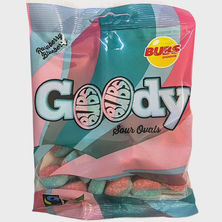 Bubs Goody Sour Ovals 90g