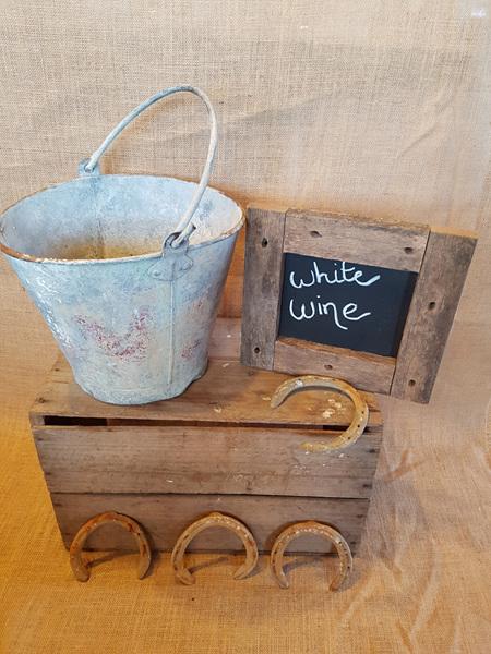 Bucket- Rustic Metal