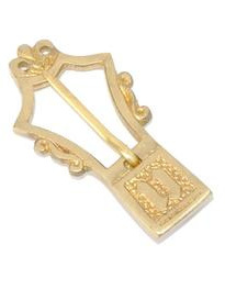 Buckle 11 - Medieval Brass Lyre Belt Buckle