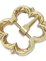 Buckle 5 - Brass Medieval Flower Buckle