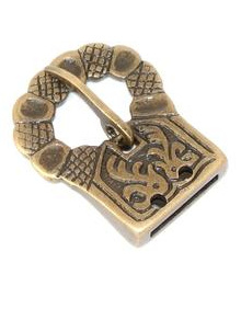 Buckle 8 - Brass Medieval Belt Buckle