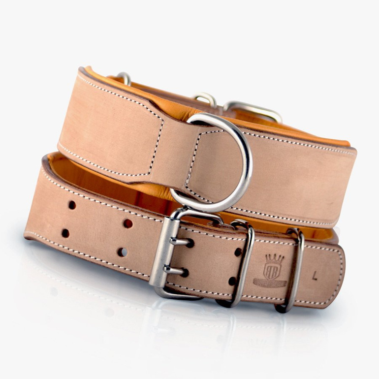Buckskin Leather Dog Collar for Large Dogs by Rogue Royalty