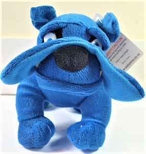 Bulldog Soft Toy: Blue