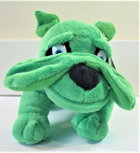 Bulldog Soft Toy: Green