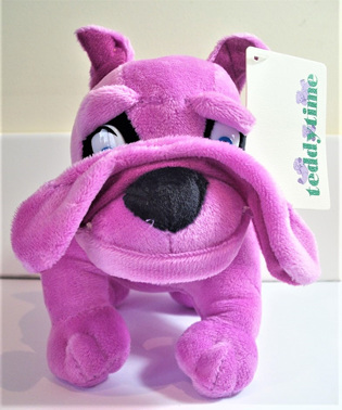 Bulldog Soft Toy: Purple