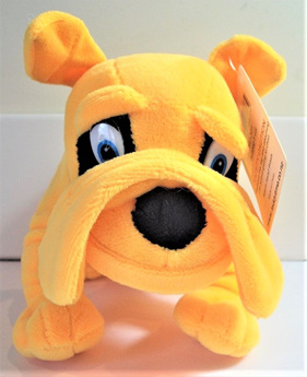 Bulldog Soft Toy: Yellow
