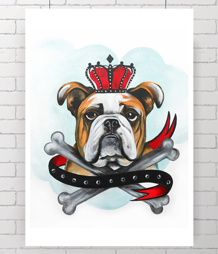 bulldog - the original painting