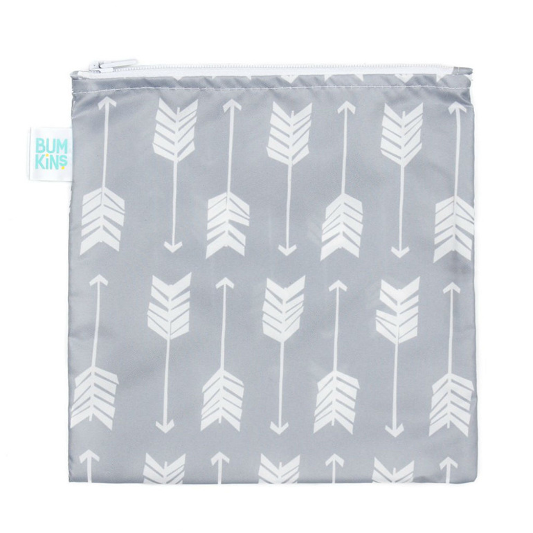 Bumkins large arrows snack bag. Reusable and machine washable