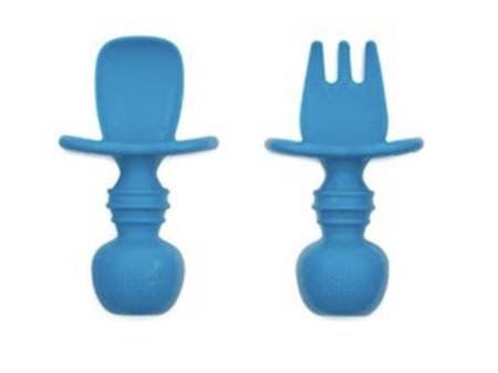 Bumkins Silicone Chewtensils Dark Blue