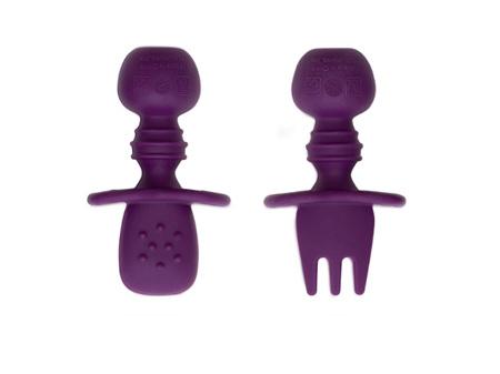 Bumkins Silicone Chewtensils Purple