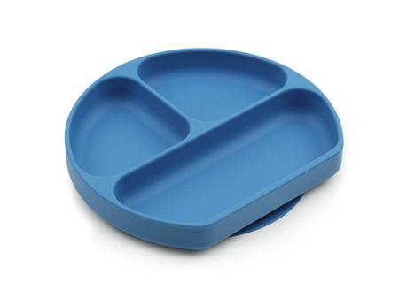 Bumkins Silicone Grip Dish - Dark Blue