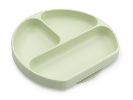 Bumkins Silicone Grip Dish Sage