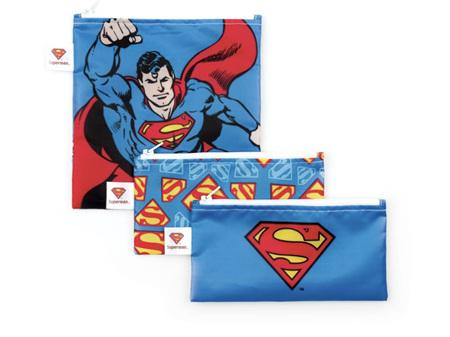 Bumkins Snack Bag Combo 3 Pack DC Comics Superman