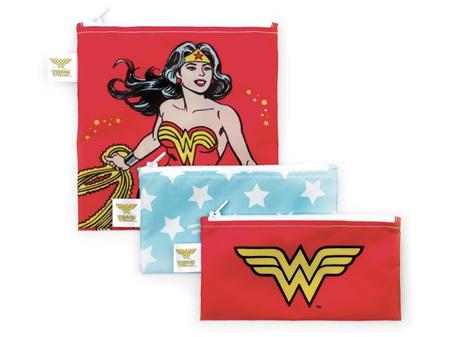 Bumkins Snack Bag Combo 3 Pack DC Comics Wonder Woman