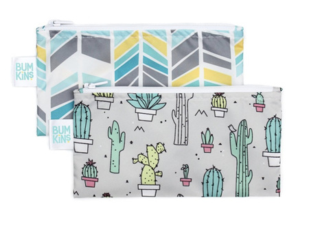 Bumkins Snack Bag Small 2 pack Cacti & Arrows
