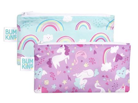 Bumkins Snack Bag Small 2 pack Unicorns & Rainbows