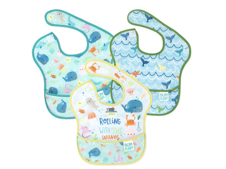 Bumkins Superbib 3 Pack Rolling with the Waves