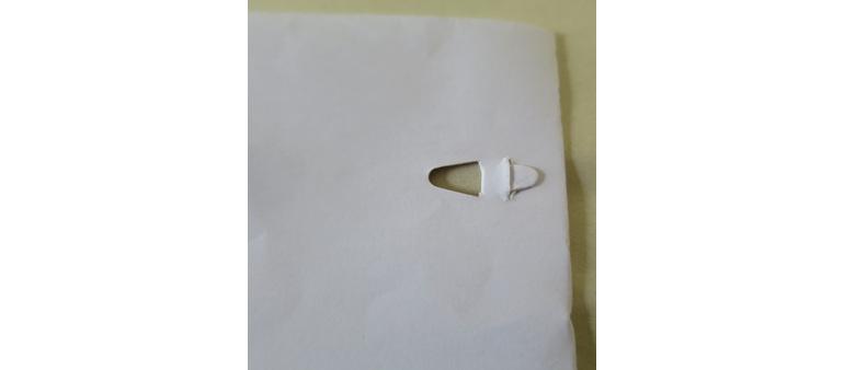 Bump paper fastener
