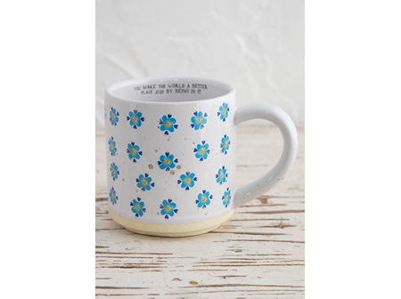 Bungalow Mug Blue Flower