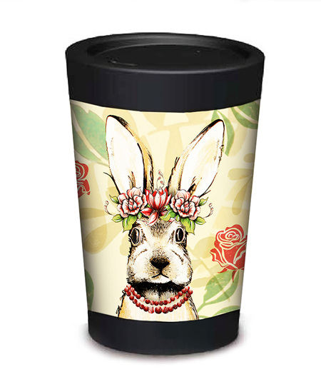 bunny coffee cup - large