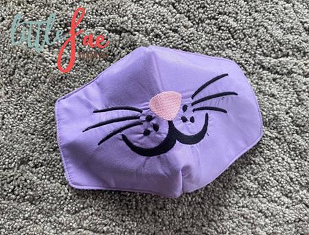 Bunny Face Mask Purple
