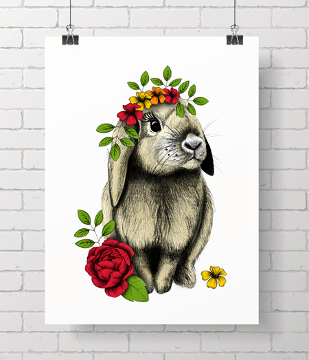 Bunny - floral