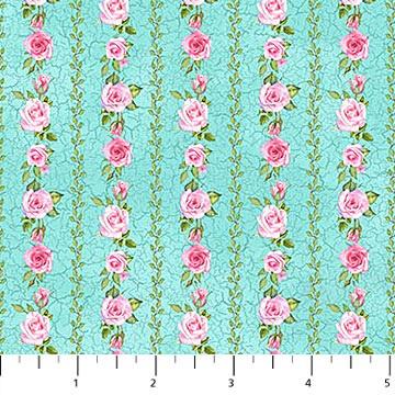 Bunny Love -Floral Stripe Blue