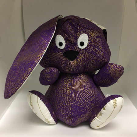 Bunny Purple with Gold Arrows