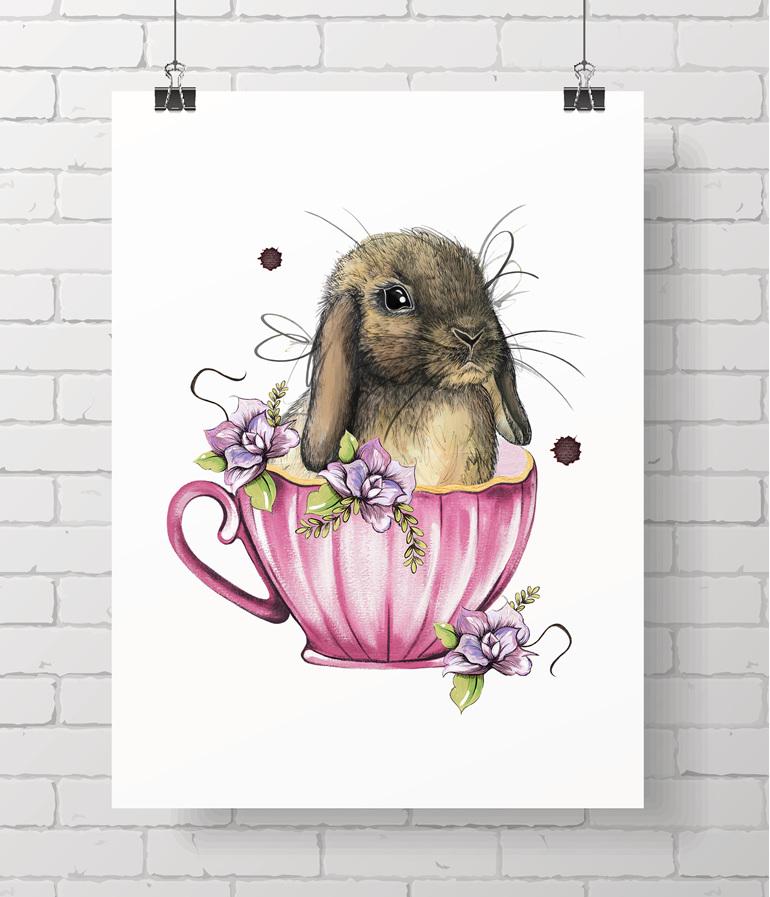 bunny - teacup