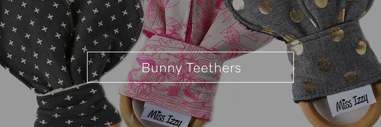 Bunny Teethers, designed and handmade in New Zealand