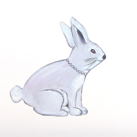 Bunny wall decal