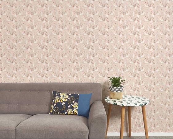 Bunny wallpaper pink