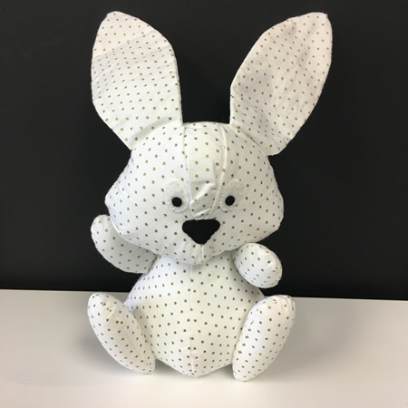 Bunny - White with Gold Stars