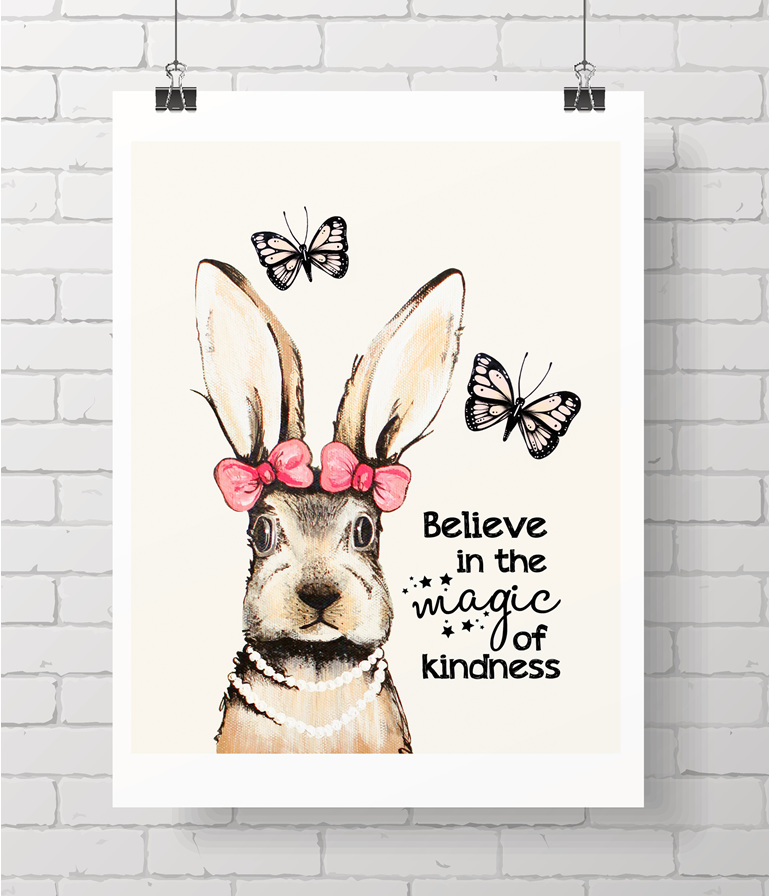 bunny with quote
