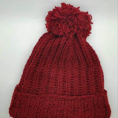 Ribbed Unisex Pom Pom Hat