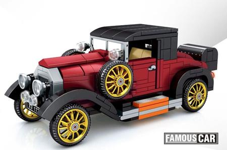 Burgundy Classic Car 330 Pieces
