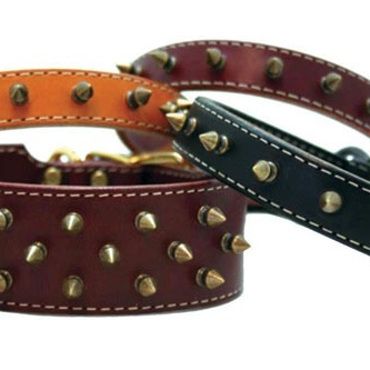 "Burgundy Heirloom Spiked Collar 22"" (55.88cm)"
