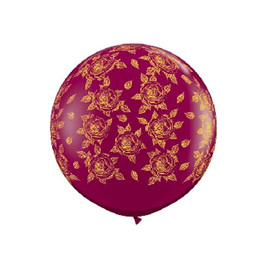 Burgundy rose latex balloon x 1