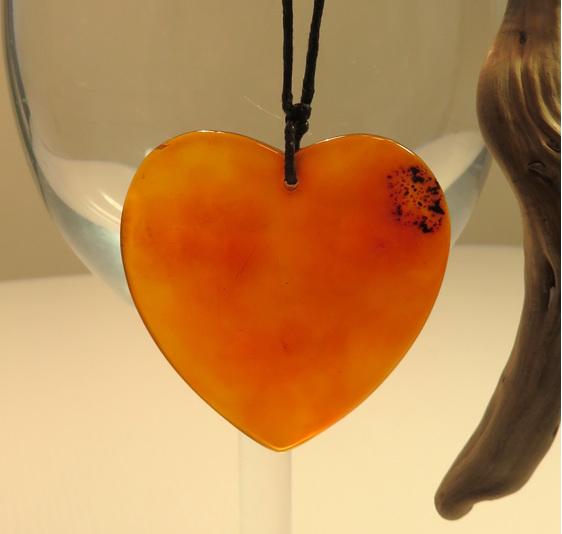 Burnt orange agate pendant
