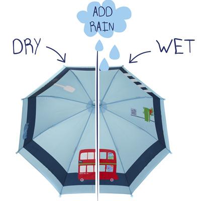 Boys Colour Changing Bus Umbrella