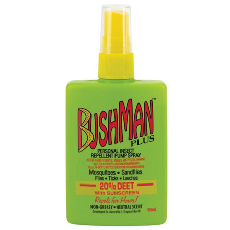 BUSHMAN PLUS 20% DEET PUMP SPRAY 100ML