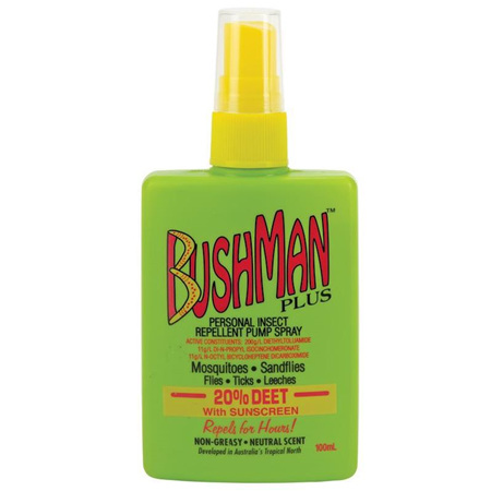 BUSHMAN PLUS UV PUMP SPRAY 100ML